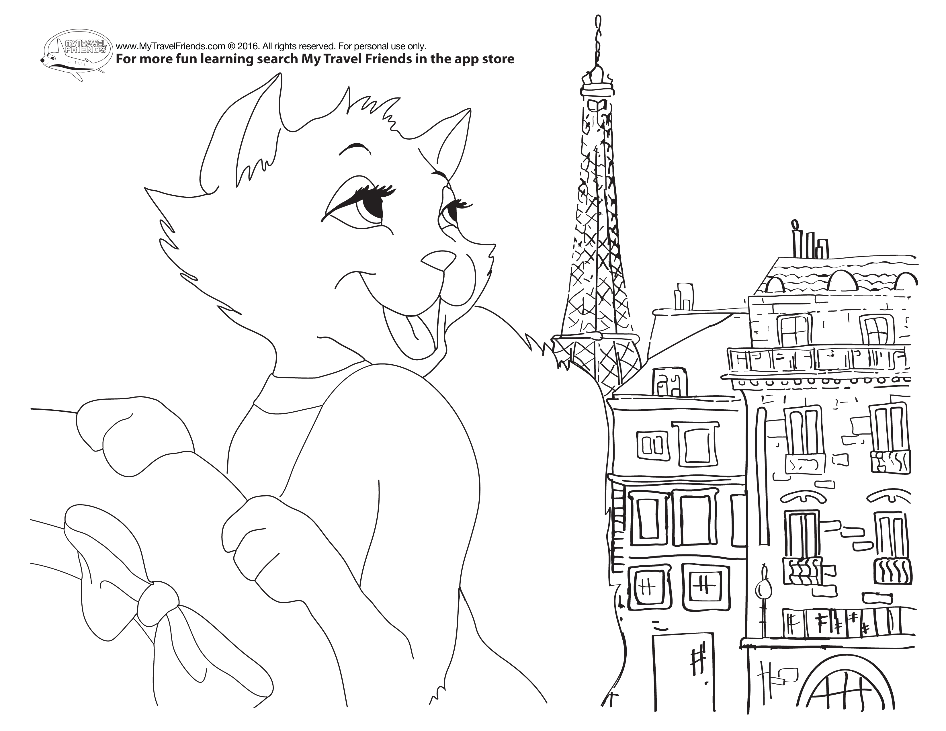 MY TRAVEL FRIENDS COLORING PAGES
